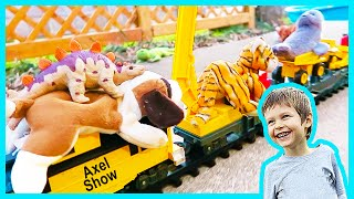 Toy Dinosaur Train Crane!