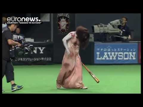 Famous ghosts put on a ghoulish display at Japan baseball game