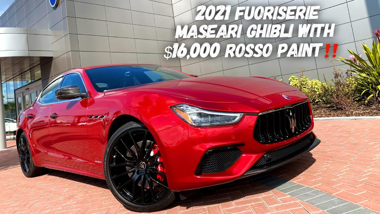 The 1ST Fuoriserie Maserati Ghibli Arrives With $16,000 Paintjob