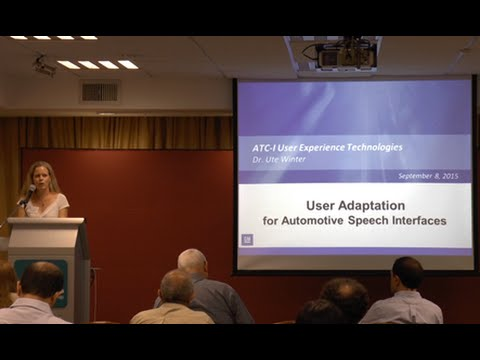 Dr. Ute Winter | User Adaptation for Automotive Speech Interfaces