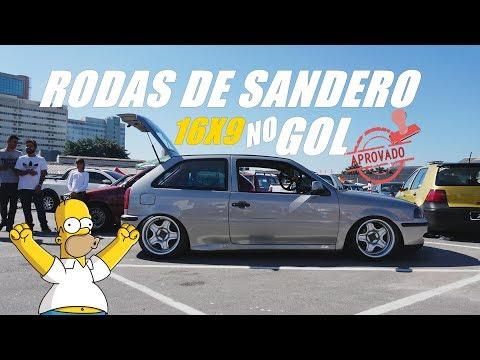 GOL G3 COM RODAS DO SANDERO? 16X9 NELE!  VOLKSLOW