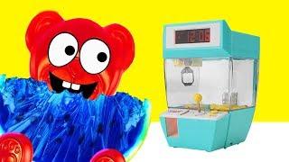 Lucky Bär und sein Greifarm Spielzeug Automat