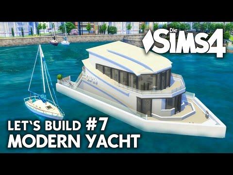 Yacht bauen in Die Sims 4 | Let's Build #7 Hafen Grundstück mit modernem Boot