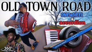 Lil Nas X - Old Town Road (Official Accordion Cover) Riding Skateboard