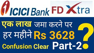 ICICI Bank FD Extra Monthly Income Part-2   ICICI Monthly Income Plan   ICICI FD Extra 2019.