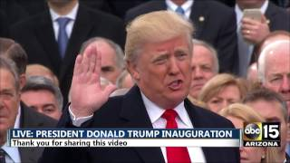 FULL: President Donald Trump being sworn in - Inauguration