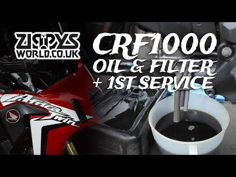 CRF1000 Oil and Filter Change  Africa Twin Service - Видео клуб
