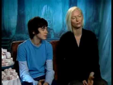 Skandar Keynes and Tilda Swinton Narnia