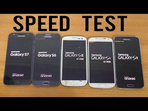 Samsung Galaxy S7 vs S6 vs S5 vs S4 vs S3 - Speed Test (4K)