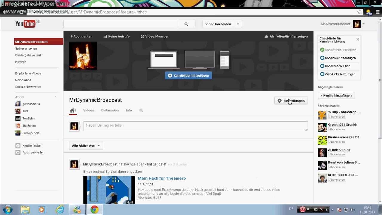 Youtube Pn Schreiben