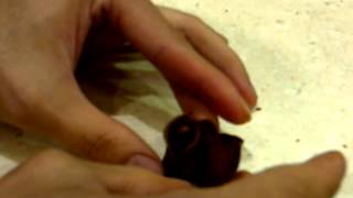 Download How to make Rose from chocolate modelling chocolate by arben MP3 song and Music Video