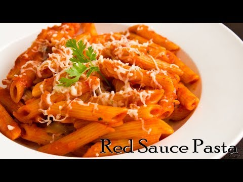 Pasta In Red Sauce | Red Sauce Pasta | Indian Style Tomato Pasta ~ The Terrace Kitchen
