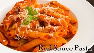 Pasta in Red Sauce  Red Sauce Pasta  Indian Style Tomato Pasta  The Terrace Kitchen