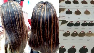 Hair colour highlights // streaks hair colour highlights// step by step 100% safe