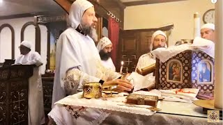 HG Bishop Youssef: Morning Incense & Divine Liturgy @ St Mary & St Moses Abbey, TX ~ 04/05/2020
