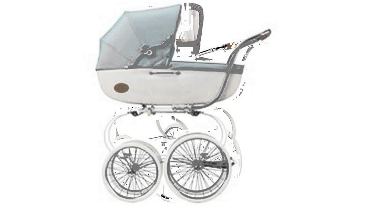 old fashioned baby stroller - YouTube
