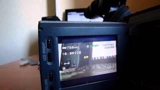 Настройка скорости затвора на Sony VX-2100E