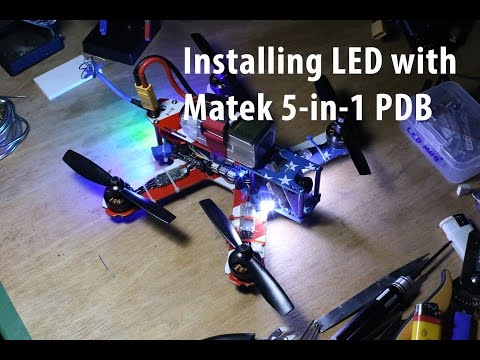 Installing LED with Matek 5-in-1 PDB