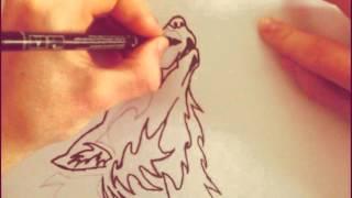 Как нарисовать волка(Подписивайтесь ставте лайки и добавляйте в вк http://vk.com/id166819059 кидайте фото по возможности буду рисовать)))..., 2016-01-23T15:17:23.000Z)
