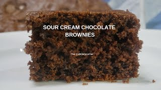 Chocolate & Sour Cream Brownies