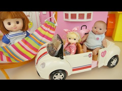 Baby doll cars and picnic play