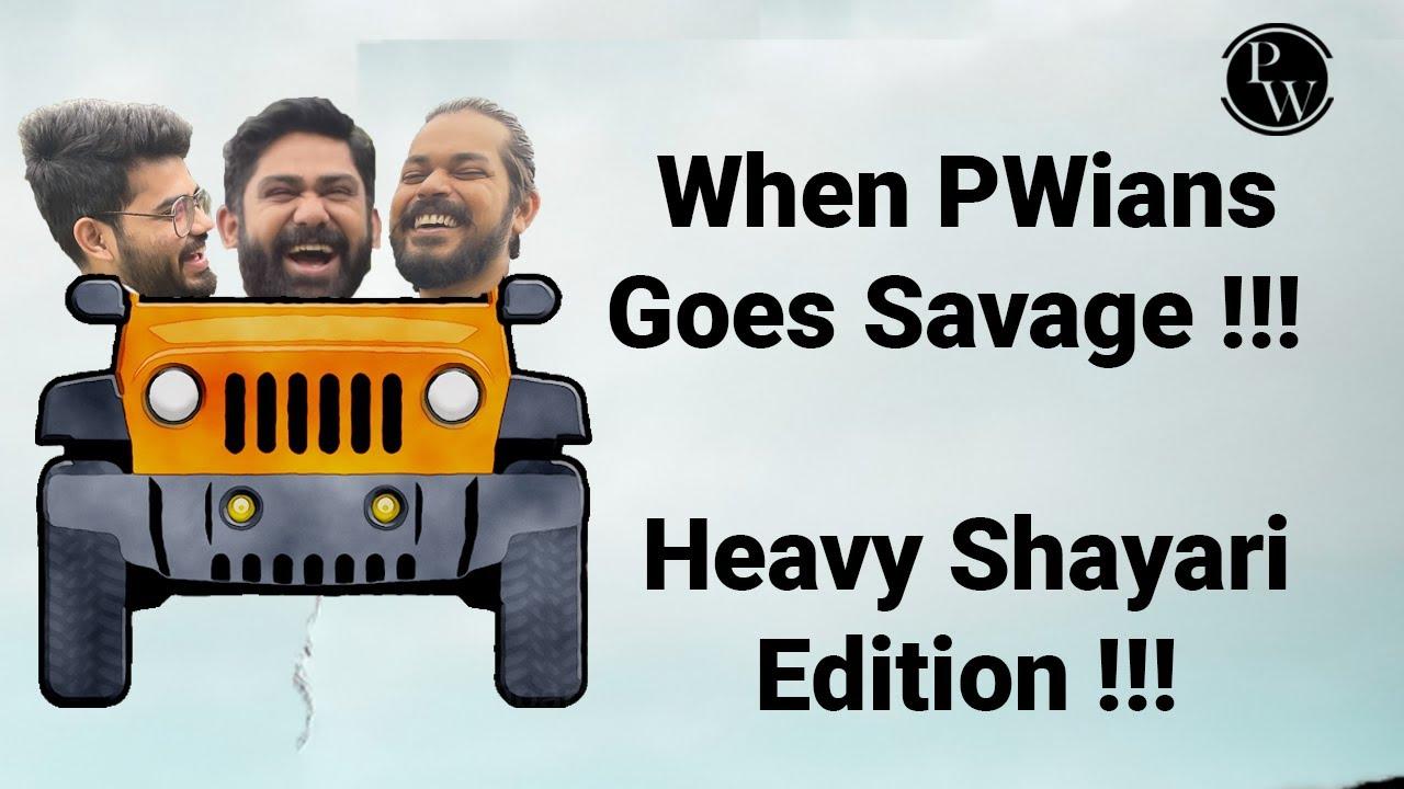 Download Again destroyed by Pankaj Sir and Aasim Sir 🔥🔥| Heavy Shayari Edition🔥🔥| PW Insider | Agya Swaad