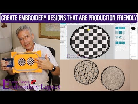 How to Create Production Friendly Embroidery Designs