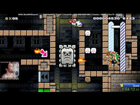 Super Mario Maker - P-Jump (@BlackANTIVenom 's favorite level) SPEEDRUN in 0:01:24