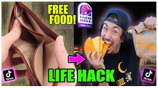 We TESTED Viral TikTok Life Hacks.... (FREE FOOD - KEEP THIS A SECRET) *PART 23*