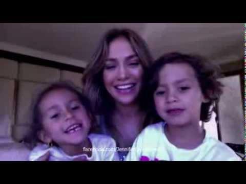Jennifer Lopez & Twins: Merry Christmas! 2012