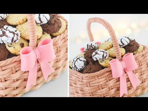 Basket Cake Tutorial + 4 Easy Cookies Recipes - Tan Dulce