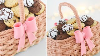 Basket Cake Tutorial + 4 Easy Cookies Recipes  Tan Dulce