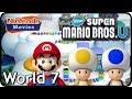 New Super Mario Bros. U: World 7 Meringue Clouds (All Star Coins 100% Multiplayer Walkthrough)
