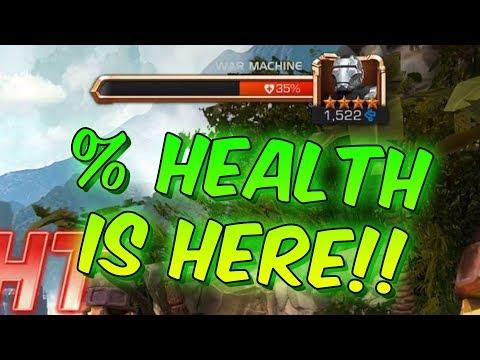 Percentage Health Bars, T1 Alpha Cost Reduced & Bigger T4CC Stash! - Marvel Contest Of Champions