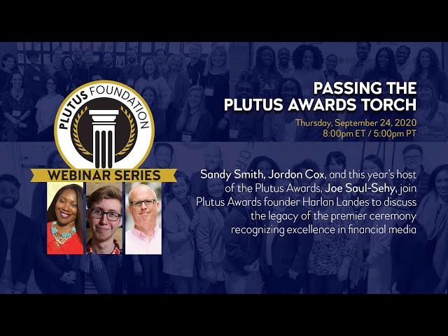 Webinar: Passing the Plutus Awards Torch