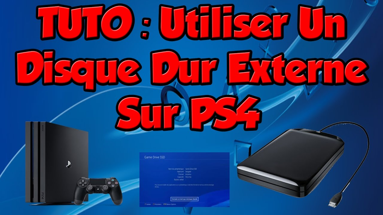 tuto utiliser un disque dur externe sur ps4 youtube. Black Bedroom Furniture Sets. Home Design Ideas