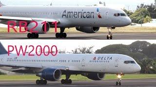 RB211 vs PW2000...757-200 Epic Showdown @ St Kitts R.L.B Int'l Airport
