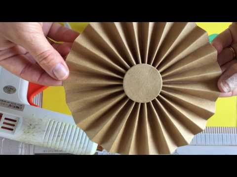 How to make a PAPER FAN/DIY paper fan/How to make a paper rosette/paper decor for party