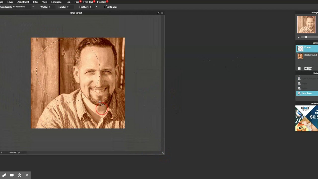 Creating A Vintage Photo With Pixlr Com Youtube