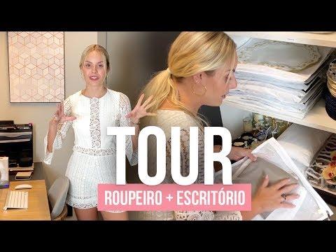 Como organizar ROUPEIRO + TOUR Home Office | Layla Monteiro