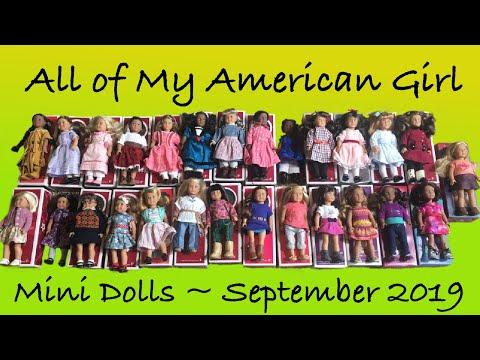 All Of My AG Mini Dolls ~September 2019