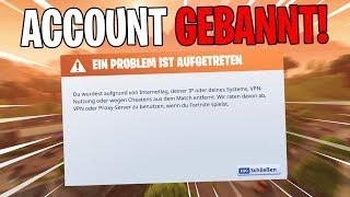 FORTNITE BANNT ACCOUNTS WEG! | Save the world