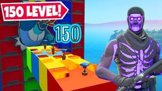 The BEST 150 LEVEL NO SKIN Deathrun in Fortnite!