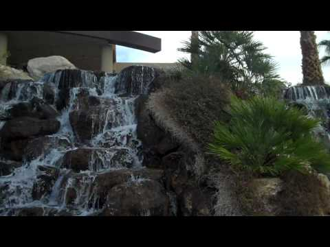 Palm springs fundraiser waterfall at the home 2010 Oceanside Pre-Africa Jan. 19th