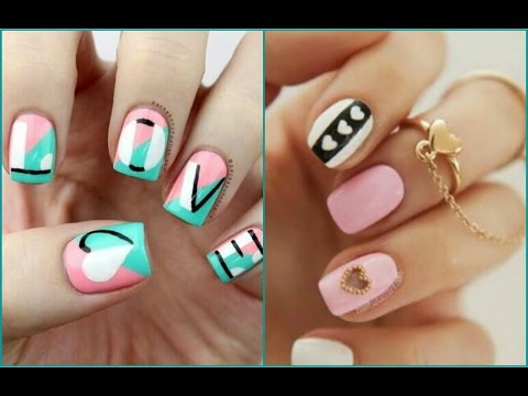 Decoraci n de u as bonitas y f ciles nails art youtube - Unas decoradas faciles ...