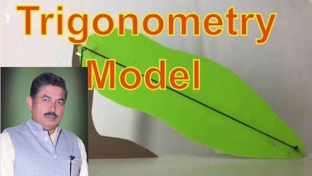 Working model for trigonometry (breaking tree)-ideal maths lab with  projects and models
