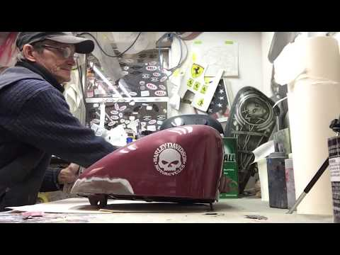 Airbrushing Motorcycle Tank - Prep Before You Paint