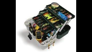 Рыболовный ящик Aquatesh-3 полочный(Обзор моего арсенала приманок)Классная коробочка.