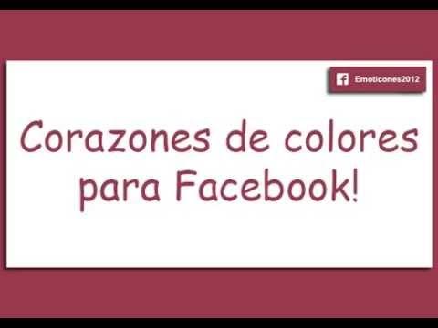 Corazones De Colores Para Facebook Youtube