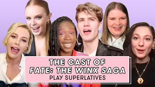 The Cast of Fate: The Winx Saga Talk Bloom's Eyebrows And Flirting | Superlatives | Seventeen